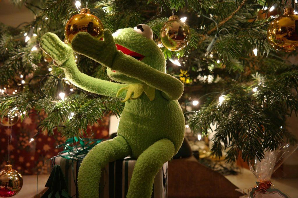 クリスマスツリーとカーミット
