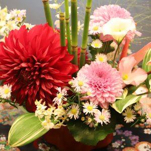 生花を使用したテーブルコーディネート