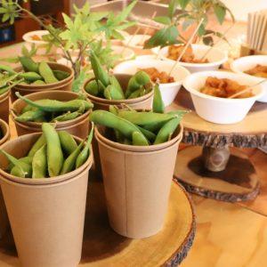 【屋台メニュー】枝豆、唐揚げ