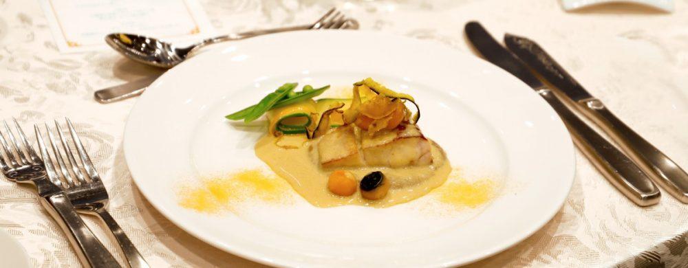 【魚料理】スズキの白ワイン蒸し ソースアロマティス
