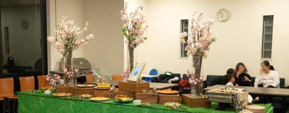 桜を使用したテーブルコーディネート