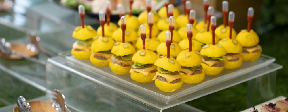 【フィンガーフード】ガッカモーレバーガー 自家製ケチャップソース