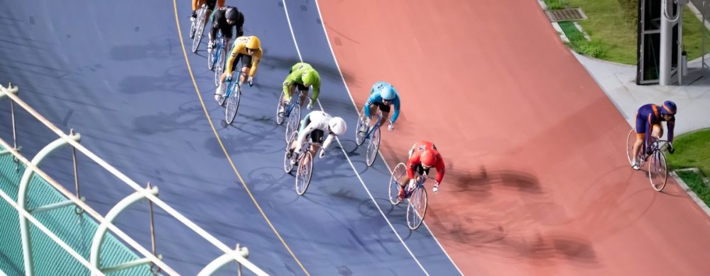 会場からは迫力ある競輪を目の前で観戦する事ができます