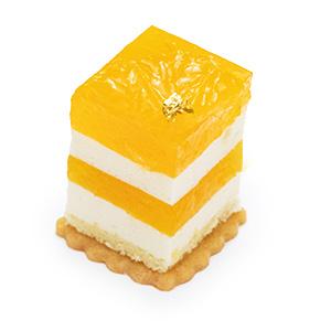 柚子と温州ミカンのレアチーズ