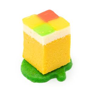 カボチャのチーズケーキ リンゴゼリーのモザイク
