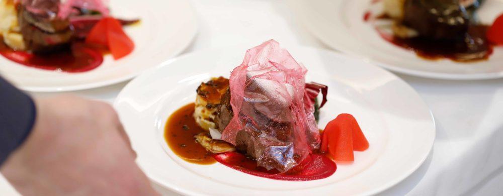 【肉料理】国産牛フィレ肉 季節野菜を添えて 黒トリュフ香るペリグーソース