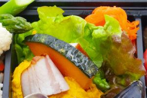 ベーコンとカボチャのサラダ&キャロットラペ