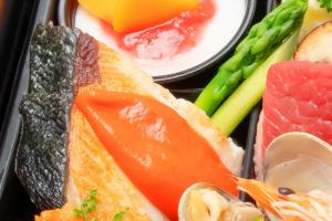 鮮魚のソテー(スズキ)パプリカのソース