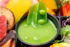 季節野菜の冷製ポタージュ(撮影時は豆)