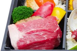 サーロインステーキと野菜のオーブン焼き