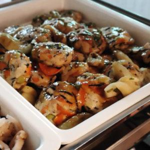 大根おろしと焼きなすの豆腐ハンバーグ